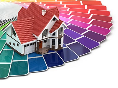 Painting Company in Rockville MD - House along with a color palette